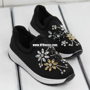 Дамски маратонки 17-0703 01 Black