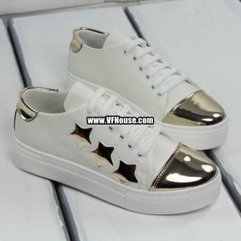 Дамски обувки 17-1603 02 White-Gold