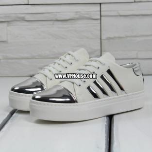 Дамски обувки 17-1603 03 White-Silver