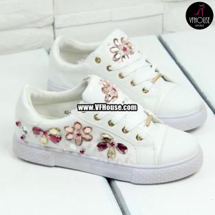 Дамски обувки 17-0308 AD685 White