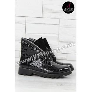 Боти 15-DS2909 07 Black-Croc