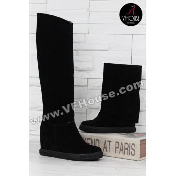 Дамски ботуши 15-CE2810 01 Black-Black