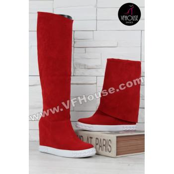 Дамски ботуши 15-CE2810 01 Red