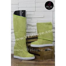 Дамски Летни ботуши 16-CM1302 01 Yellow