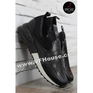 Дамски маратонки 16-MS2502 03 Black