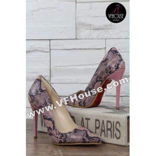 Елегантни обувки 16-RZ2902 01 Pink/SN
