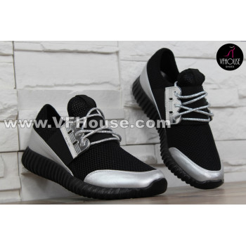 Дамски маратонки 16-SS2502 05 Black/Silver