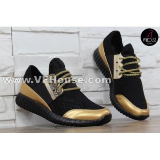 Дамски маратонки 16-SS2502 05 Black/Gold