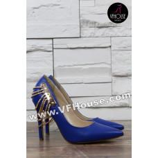 Елегантни обувки 16-SN1903 02 Blue
